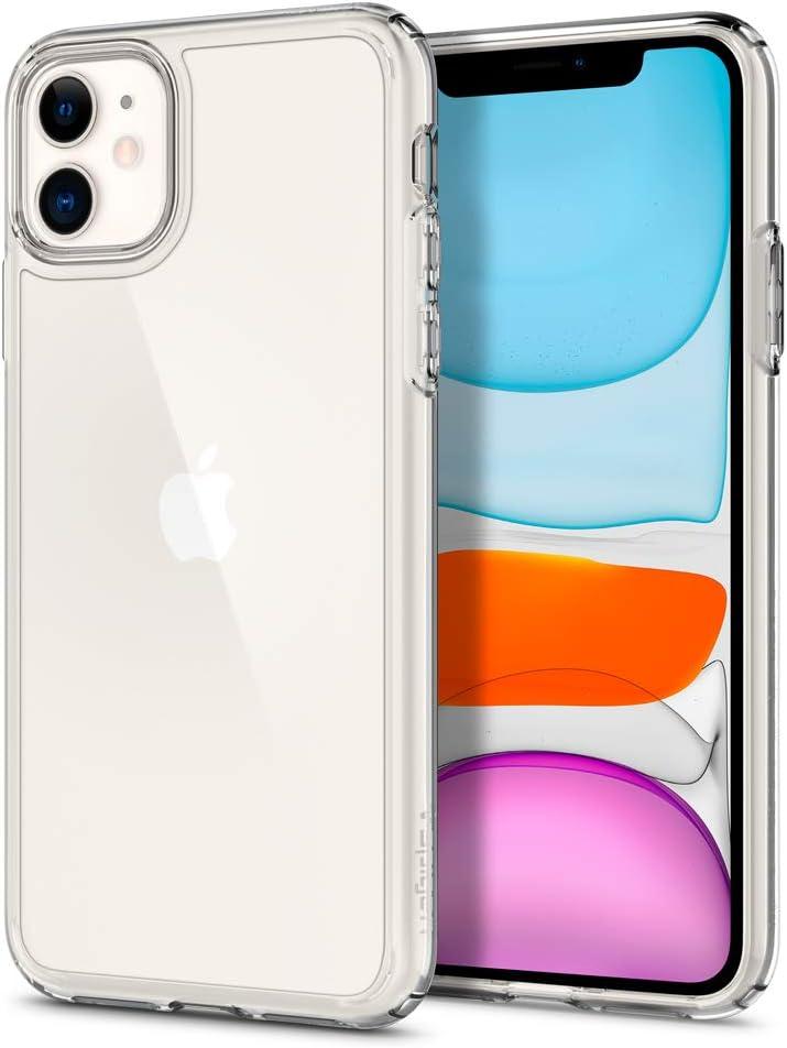 Spigen Ultra Hybrid Designed for Apple iPhone 11 Case (2019) - Crystal Clear: Electronics