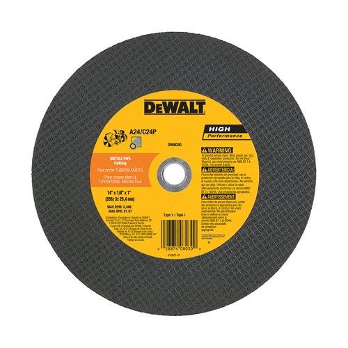 DEWALT DW8031R3 14 x 1//8 x 20mm Aluminum Carbide A24//C24P High Speed Cutting Wheel 3F