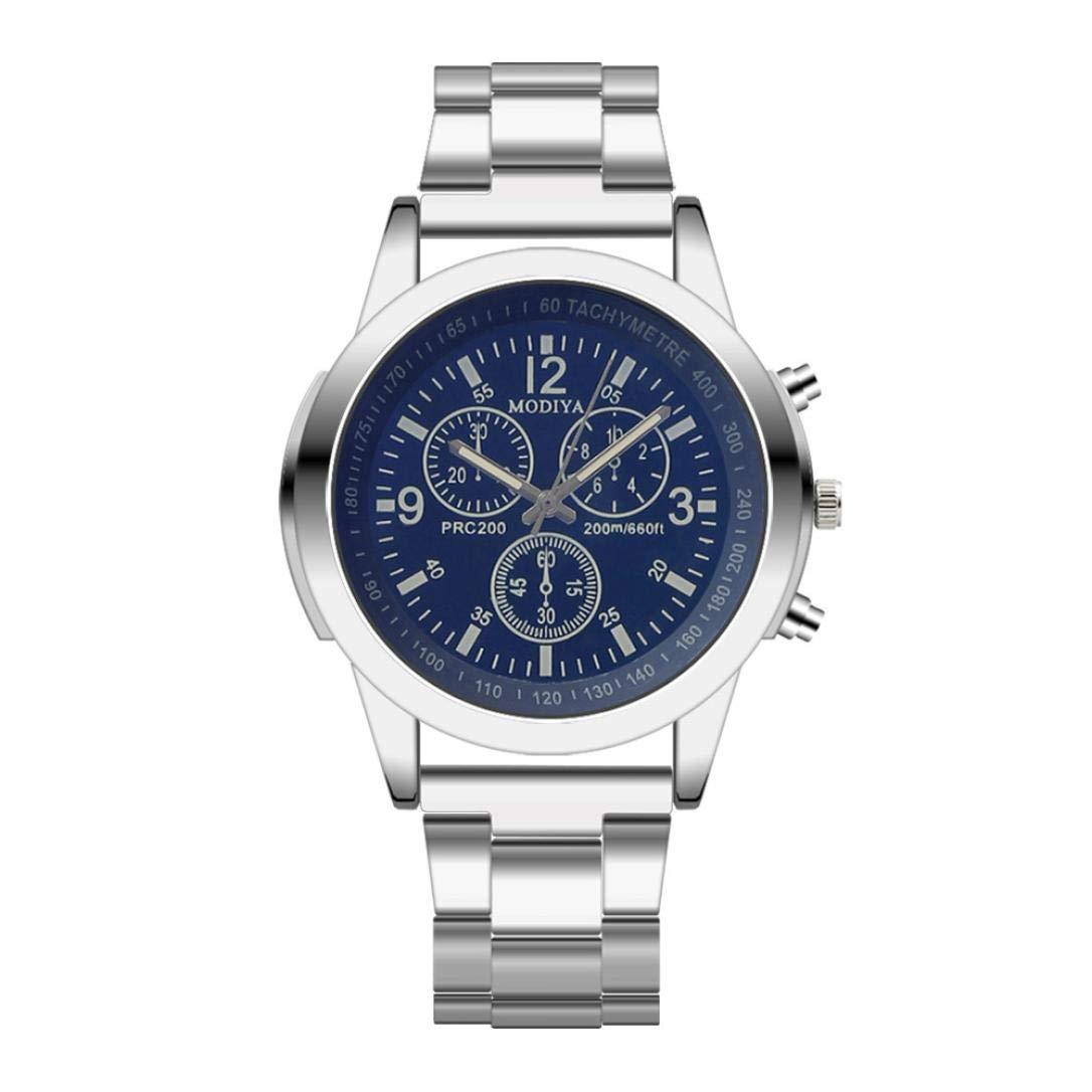 Highpot Men Watches Business Analog Quartz Waterproof Watch Dress Male Watches (A)