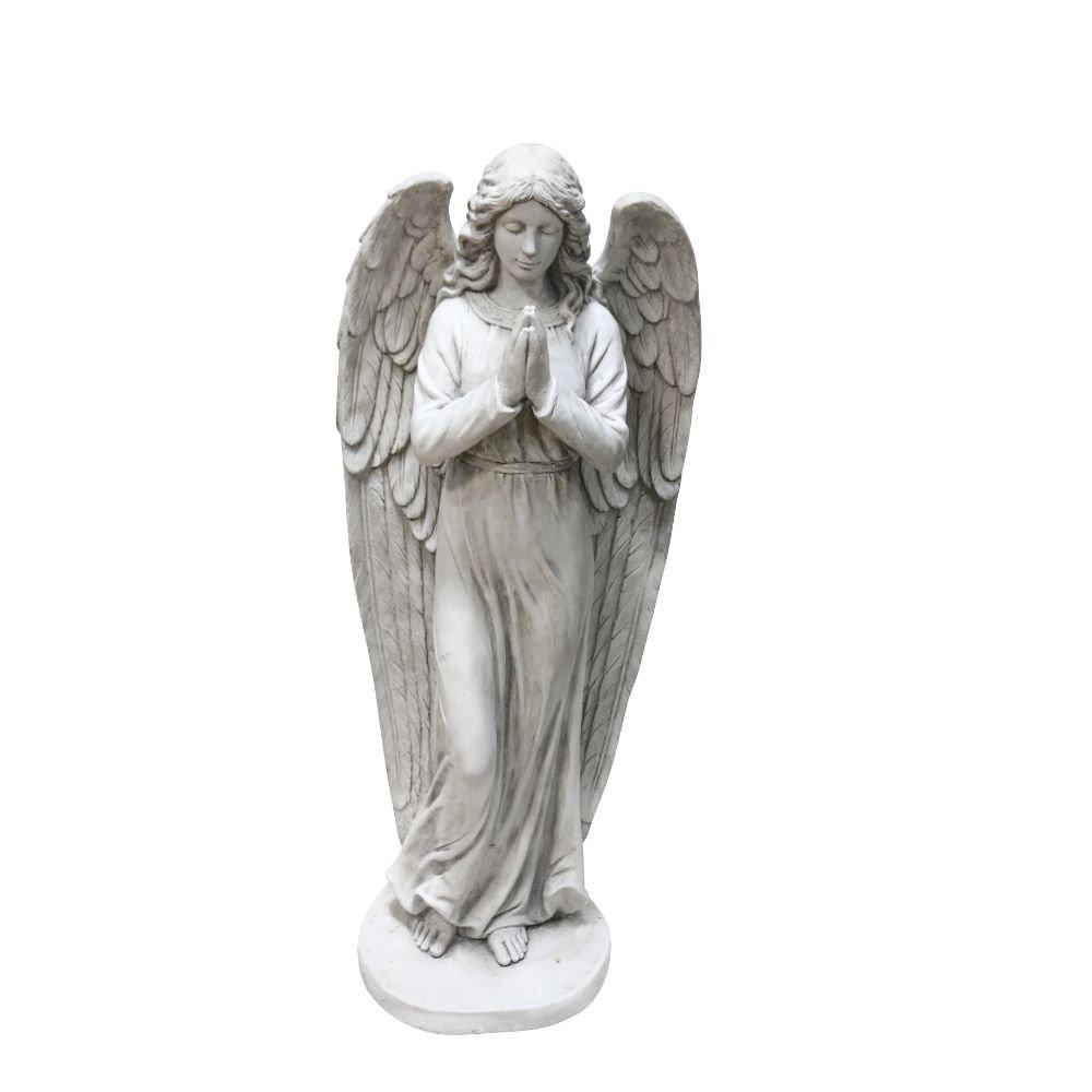 Alpine Corporation Praying Angel Statue - Outdoor Decor for Garden, Patio, Deck, Porch - Yard Art Decoration