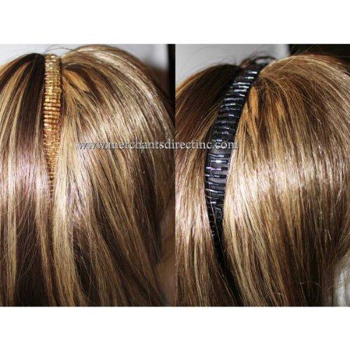 Goody, Goody Beaded Head Wrap, Headband, Black & Brown (2 Pack)