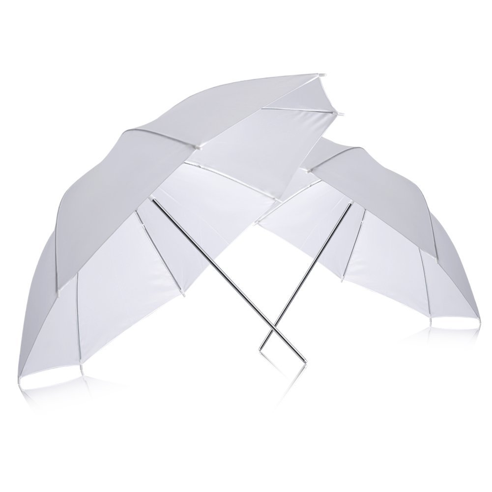 Neewer (2) 33'' 83cm Photography Studio Flash Translucent White soft Umbrella by Neewer