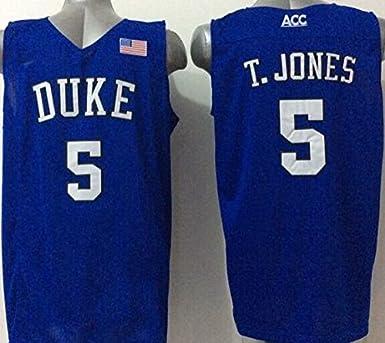 new arrival e8bd5 e22ab Men's Duke Blue Devils NO.5 T.JONES Basketball Jersey NCAA ...