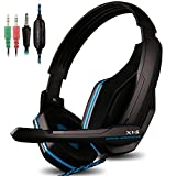 AFUNTA Gaming Headset Compatible PS4 PC Smart Phone Laptop Tablet Mobilephones MP3 MP4,OVAN