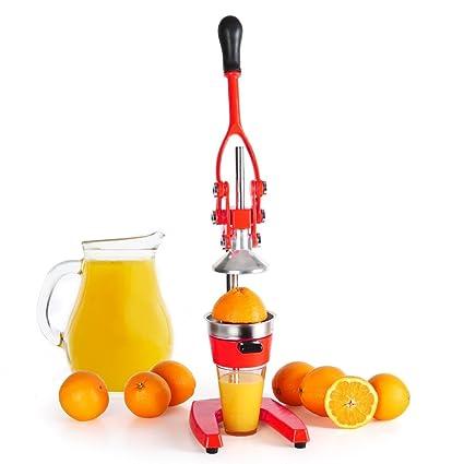 BAKAJI Exprimidor Manual de Palanca de Acero Inoxidable exprimidor de cítricos Naranjas Limones Fruta tamaño 71