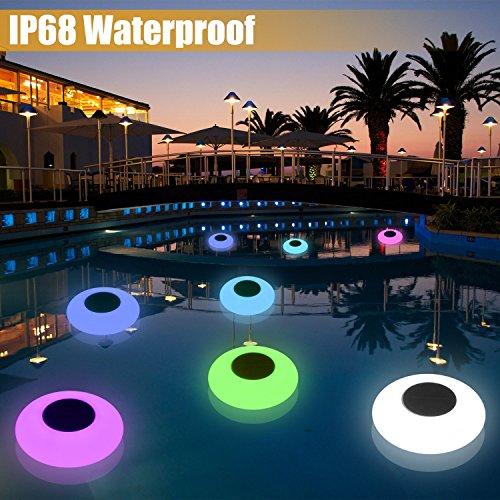Solar floating swimming pool sight