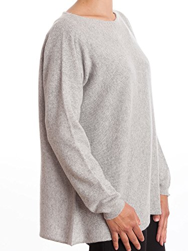 Dalle Piane Cashmere - Maxi Pullover 100% Kaschmir - für Frau Grau WKXM28
