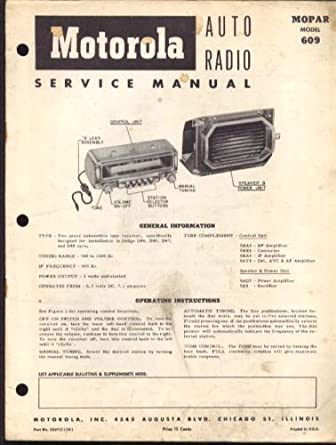 motorola auto radio model 609 manual 1953 dodge at amazon s rh amazon com Dodge Ram 1500 Manual Dodge Ram Manual Transmission