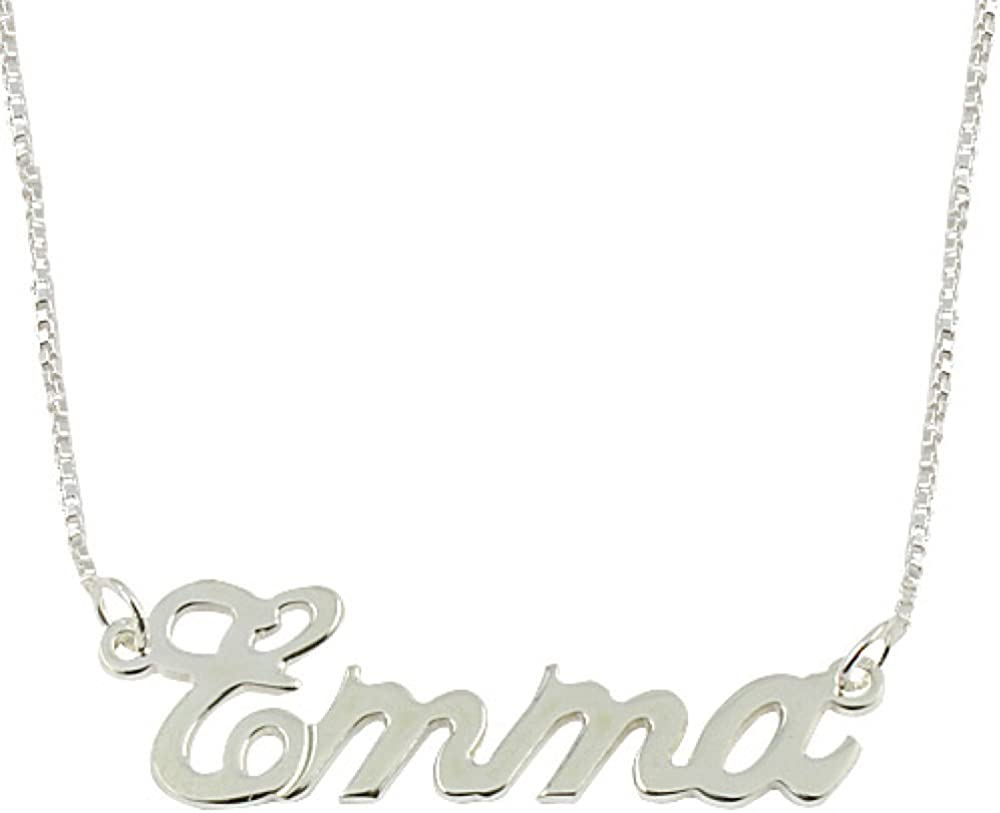 Sterling Silver Personalized Name Necklace Custom Made Any Name