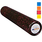 USA Foam Roller, Extra Firm High Density Foam Rollers for Exercise - 36 inch Black & Pink (2.8lbs/ft³ Density) with 3 Year Warranty