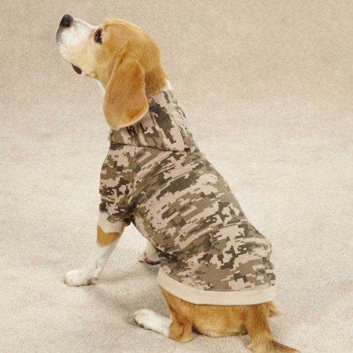 Casual Canine ZM5797 10 43 Digital Camo Hoodie Xsm Green