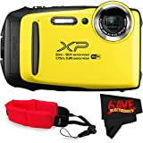 Fujifilm FinePix XP130 Digital Camera (International Version) No Warranty + Floating Strap + Fibercloth (Yellow)