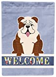 Caroline's Treasures English Bulldog Brindle White Welcome Flag Garden, Small, Multicolor Review