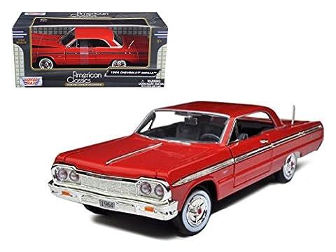 Motormax 73259 1964 Chevrolet Impala Red 1/24 Diecast Model Car