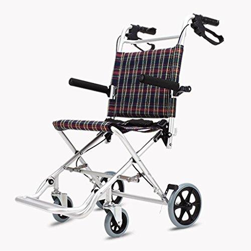 Elderly wheelchair BMX Simple trolley Walker Adult wheelchair Multi-functional wheelchair Folding light Can bear 75 kg (Color : Silver, Size : 575794cm)