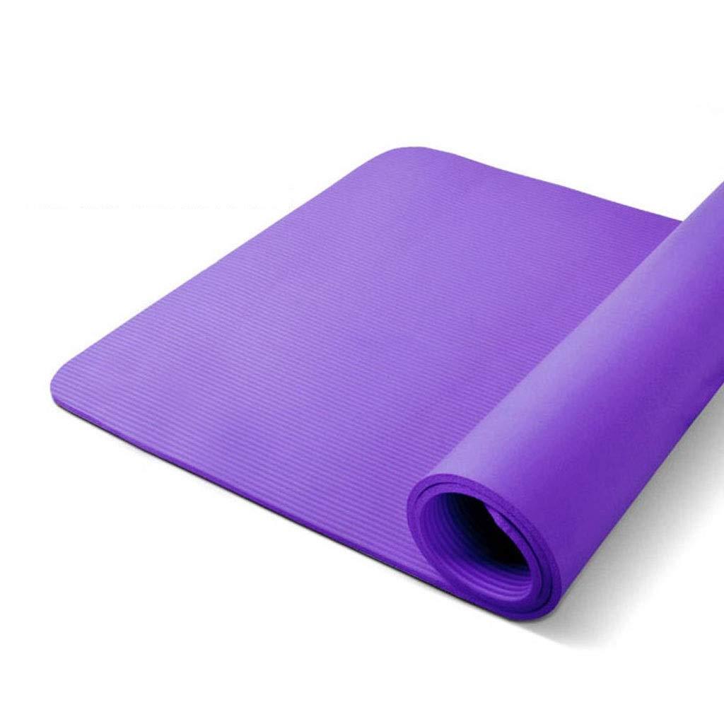 Estera Entrenamiento, 15 Mm Espesor Púrpura Pilates Esteras Yoga Gimnasio Antideslizante Ejercicio Estera Correa Hombres Mujeres Doble Yoga Mate (Color : B) LYM