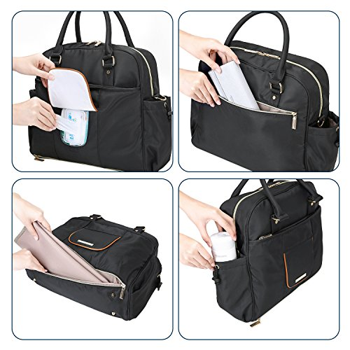 MOMMORE Nylon Diaper Bag Large Totes Nappy Handbag Changing - Import It All bb7b227cbd78d