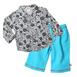 Zutano Baby Boys Super Clever Button Shirt and Ft Pant Set