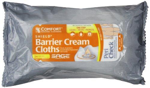 Comfort Moisture Cream - Comfort Shield Incontinence Barrier Cream Cloths - 1/Pack (24 per Pack)