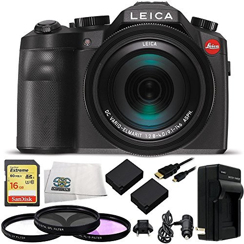 Leica V-LUX (Typ 114) Digital Camera with 16GB Extreme UHS-I U3 SDHC Memory Card (Class 10) + 10 Piece Essentials Accessory Kitの商品画像