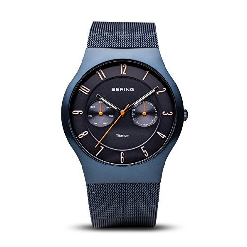 Band Titanium Watch Mesh - BERING Time 11939-393 Mens Titanium Collection Watch with Mesh Band and Scratch Resistant Sapphire Crystal. Designed in Denmark.