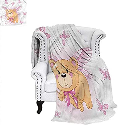 Outstanding Amazon Com Renteriadecor Toddler Throw Blanket Cute Teddy Gamerscity Chair Design For Home Gamerscityorg