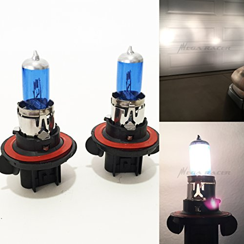 Xenon White Halogen Bulbs ((1 Pair) H13 / 9008 60/55W White 5000K Xenon Halogen Headlight Lamp Light Bulb (High/Low Beam) Replace Stock OEM Auto US)