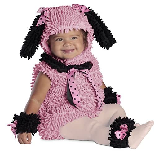 Princess Paradise Baby Girls' Pinkie Poodle Deluxe Costume, pink, 6 to 12 months