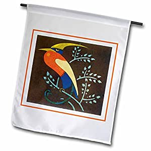 TNMGraphics Vintage Animals - Deco Bird 1-12 x 18 inch Garden Flag (fl_7415_1)