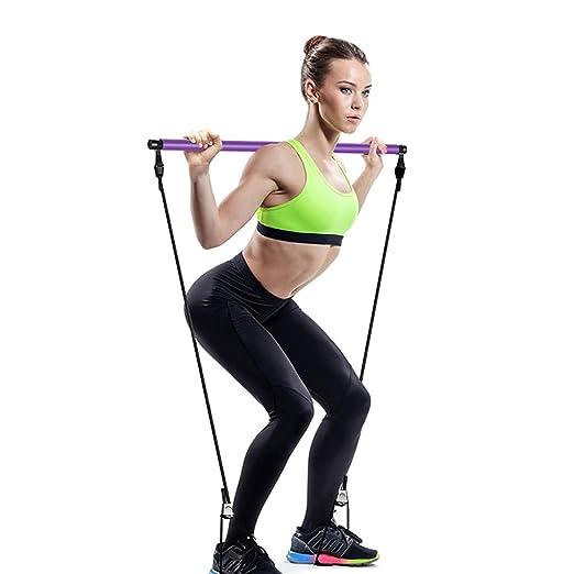 SJJOZZ Carro de Yoga Pilates Stick portátil Inicio Pequeño ...