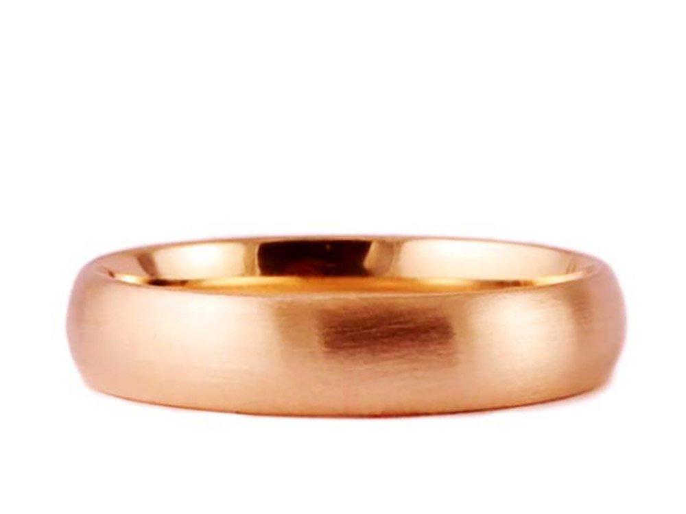 14k Rose Gold Brushed 5mm COMFORT FIT WEDDING BAND size 12.25
