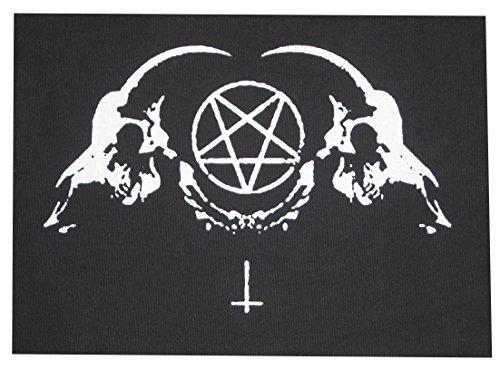 Goat Skull Back Patch - Demonic Baphomet Pentagram Devil demon dragon Evil Leviathan Cross Goat's Head Gothic Metal Occult Punk Satan Satanic Skeleton Voodoo Wicca Witchcraft 666 Inverted demon