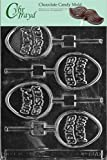 Cybrtrayd Life of the Party E170 Happy Egg Pop Easter Chocolate Candy Mold in Sealed Protective Poly Bag Imprinted with Copyrighted Cybrtrayd Molding Instructions