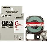 キングジム テープカートリッジ テプラPRO 6mm SS6R 赤文字