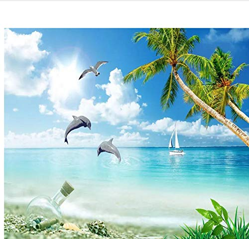 Weaeo カスタム壁紙Hd海のココナッツツリーのビーチのテレビの背景の装飾の居間の寝室装飾壁画の3D壁紙-250X175Cm B07H6M87ZQ 250X175CM 250X175CM
