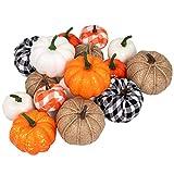 Ueerdand 16 PCS Fall Decor Artificial Pumpkins