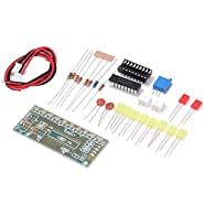 Icstation LM3915 10 LED Sound Audio Spectrum Analyzer Level Indicator Kit DIY Electoronics Soldering Practice Set