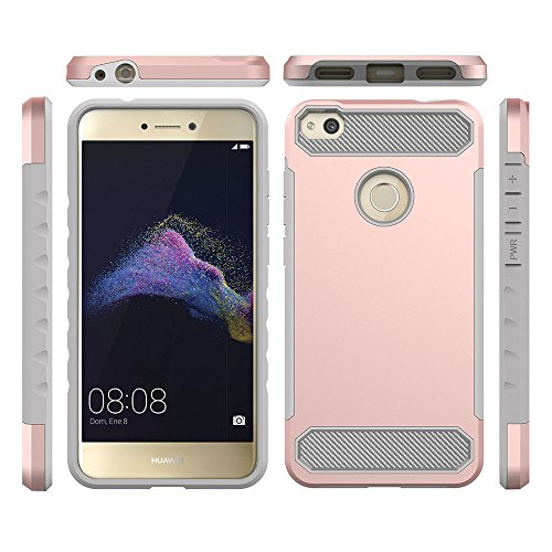 Ocamo - Carcasa Huawei P8 Lite (2017)/Nova Lite/Huawei P9 Lite (2017)/Huawei Honor 8 Lite/Huawei GR3 (2017), Rosado
