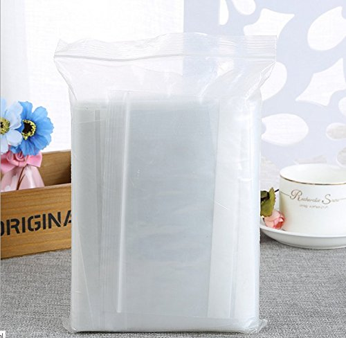 500 Pcs 7x10 cm Clear 500 Count Resealable Zipper Plastic Bags Bags for Bakery Candy Cookie