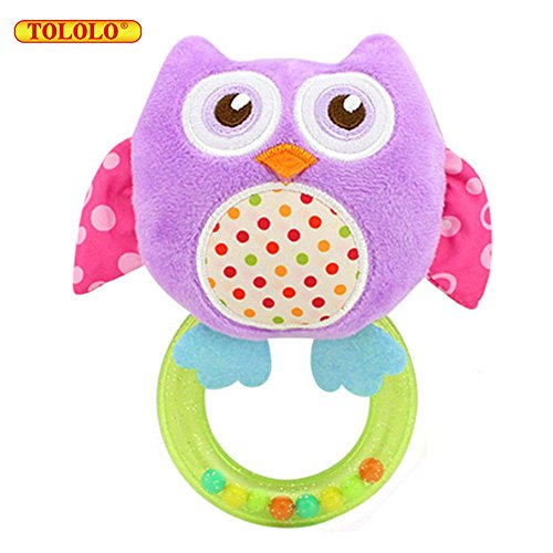 TOLOLO Purple Owl Hand Ring Baby Growing Toys for Over 0 Months