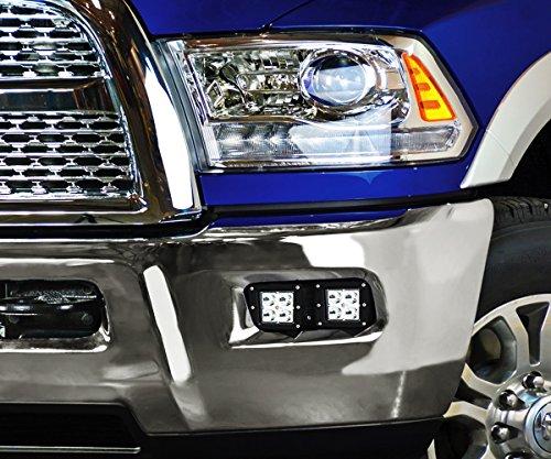 iJDMTOY LED Pod Light    Fog    Lamp Kit For    Dodge    200912    RAM    1500   1018    RAM    2500 3500  Includes  4