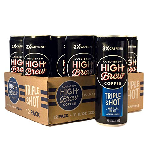 (High Brew Cold Brew Coffee Vanilla Bean Triple Shot, 11 Ounce Can (12 Count) )
