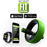 Circ-it Pro - Home Gym/ Ab Wheel, Travel Gym, Build Core, Sculpt Muscles Anywhere With This Complete Fitness Kit, 4 Stations: Fitness Sliders, Compact Speed Rope, Dual-Axis Ab Wheel, Strength Bands
