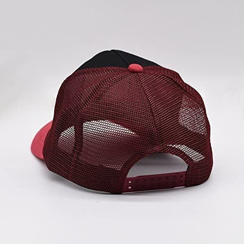 Nichildshoes hat Mesh Caps Hats for Men Women Unisex Print Red Motorcycle Flag