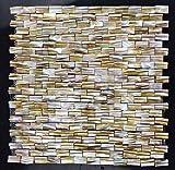FidgetFidget Mosaic Tiles 3D Brick Shell Tile Mother of Pearl Kitchen Decoration Wall 11PCS