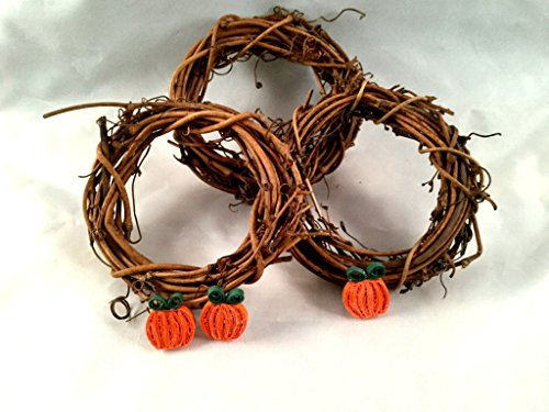 Trio of Mini Quilled Pumpkins -