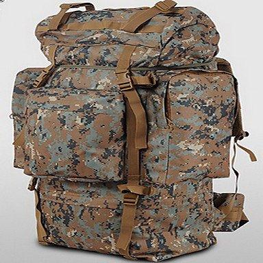 ZHUDJ 100 L Escursionismo & Backpacking Pack Pack Laptop Bagaglio Viaggio Duffel Zaino Sport Tempo Libero Camping & Escursioni Viaggi Acceso,Camouflage Brown