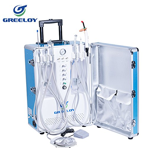 Control Unit 206 (Superdental GU-206,GU-206S Portable Unit Air Compressor Built-in with 3-way Syringe, Saliva Ejector, LED Light Cure Lamp High and Low Speed Air Turbine Tube (2 Holes) 600W (P206S))