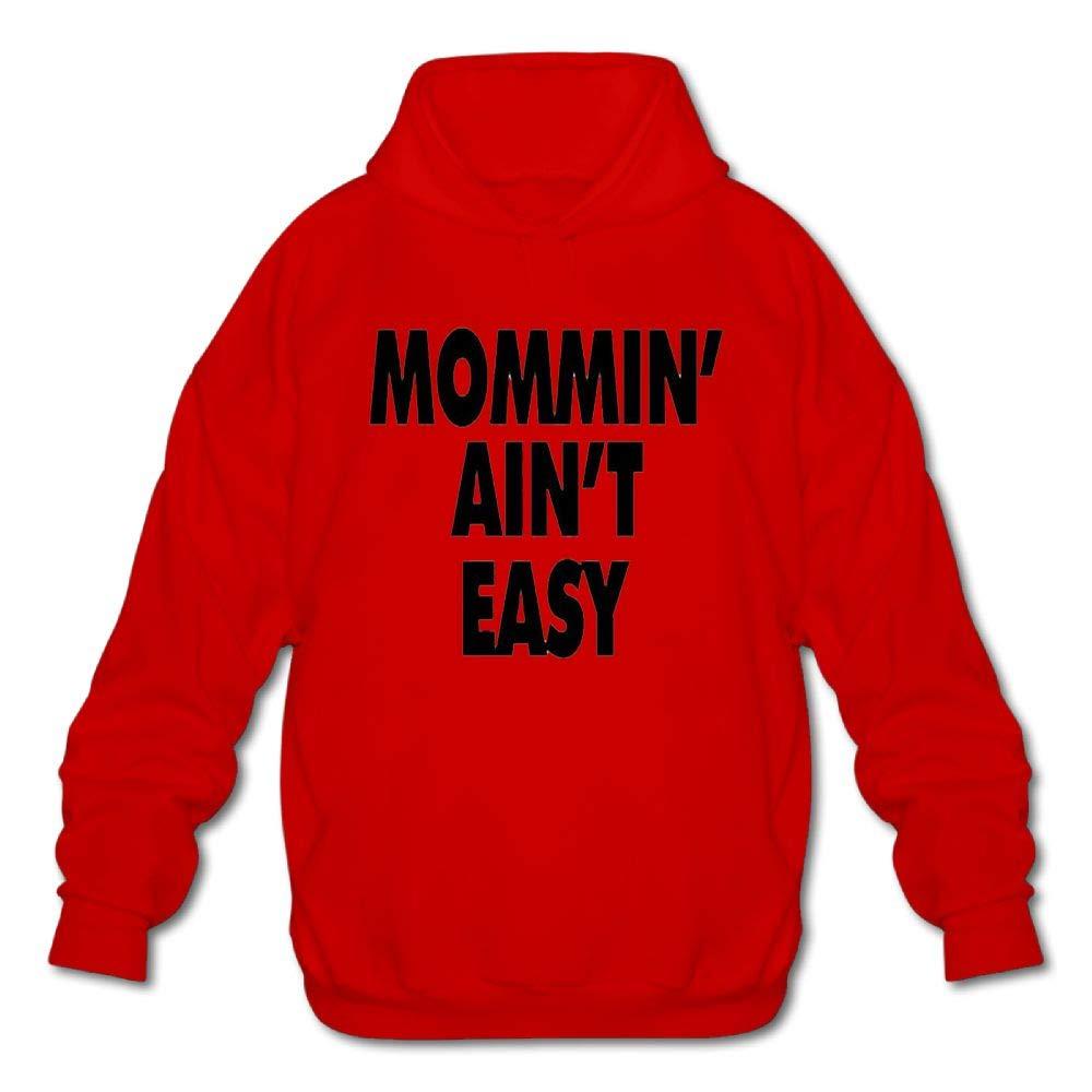 Gongchaoqun Mens Long Sleeve Cotton Hoodie Mommin Aint Easy Sweatshirt
