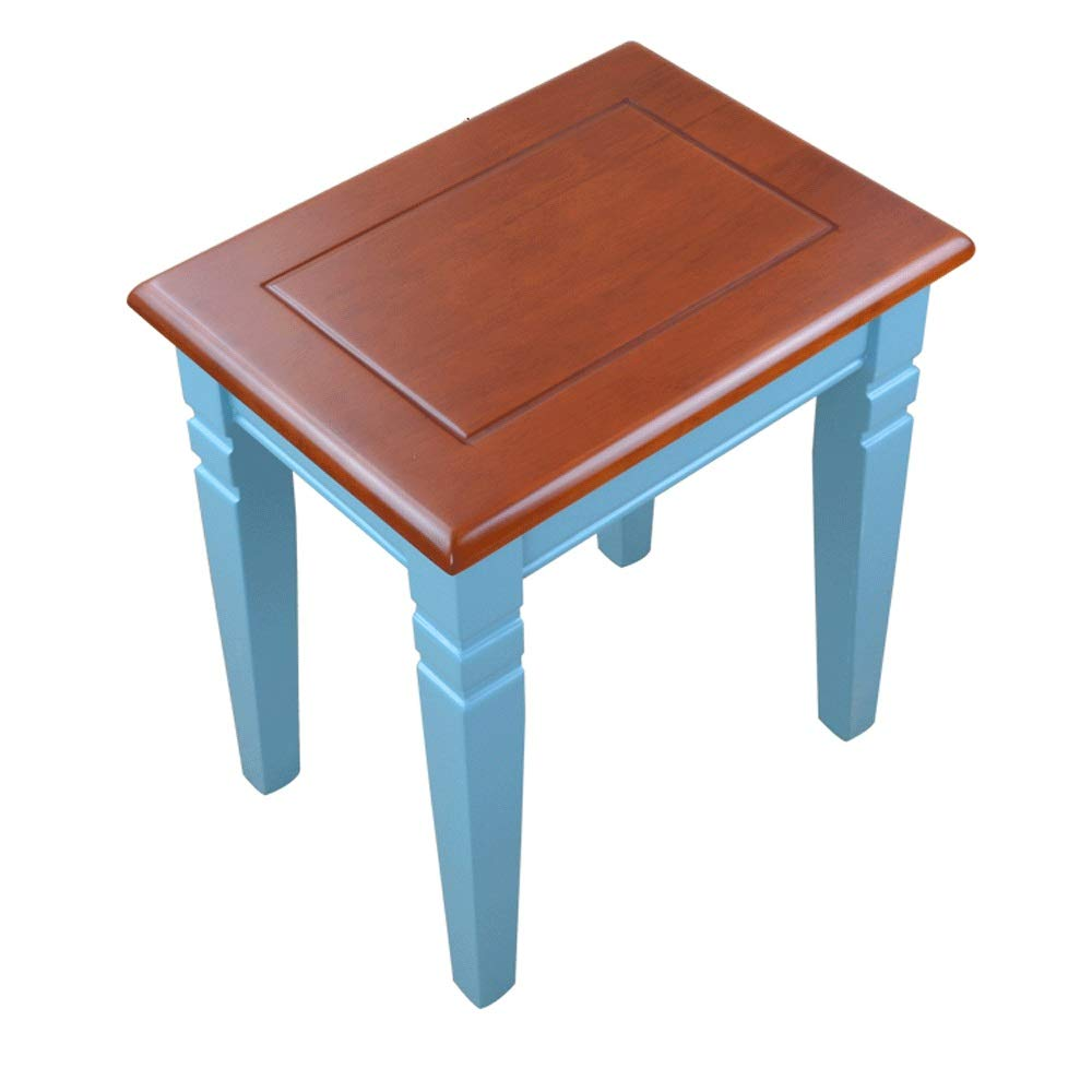 Dertyped Upholstered Padded stools Dining Home Solid Wood Simplicity Breakfast Stool Leisure Chair Suitable for Home and Room Size:403044cm. stools Home Living Room Bedroom
